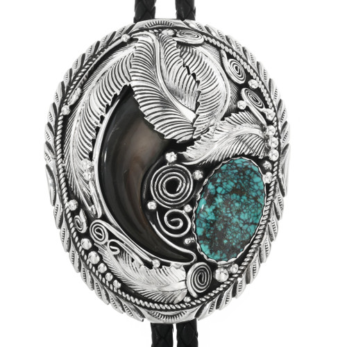 Turquoise Bear Claw Bolo Tie 32554