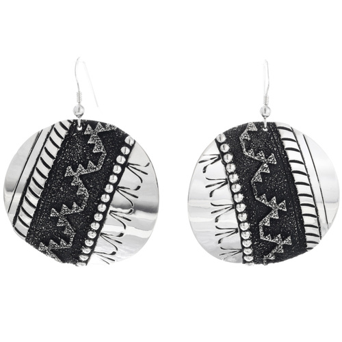 Sterling Silver Navajo Earrings 32563