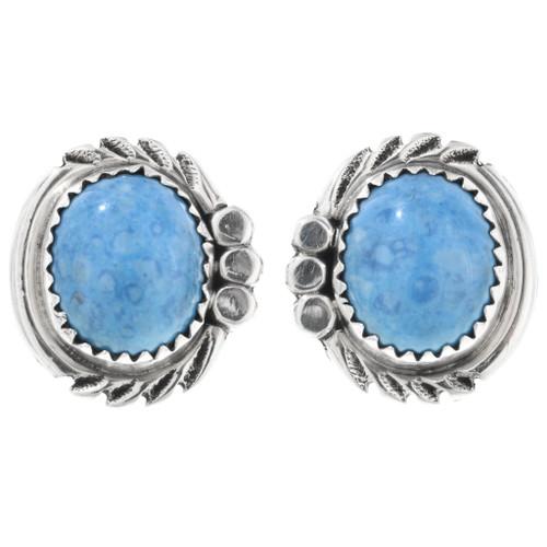 Denim Lapis Silver Post Earrings 32574