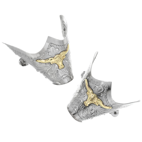 Vintage Silver Gold Cowboy Boot Tips 32586