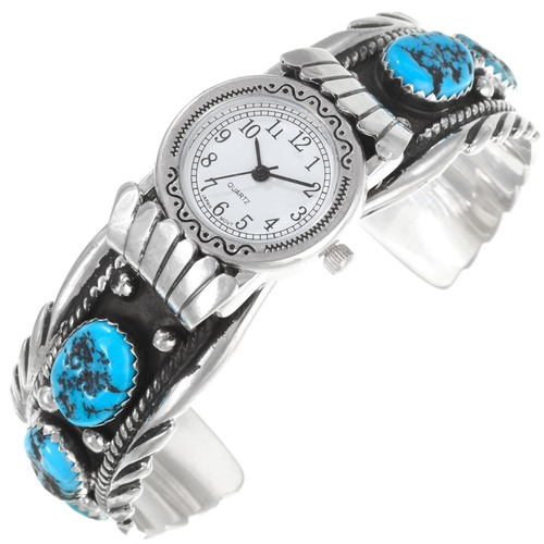 Navajo Kingman Turquoise Watch Cuff 32604