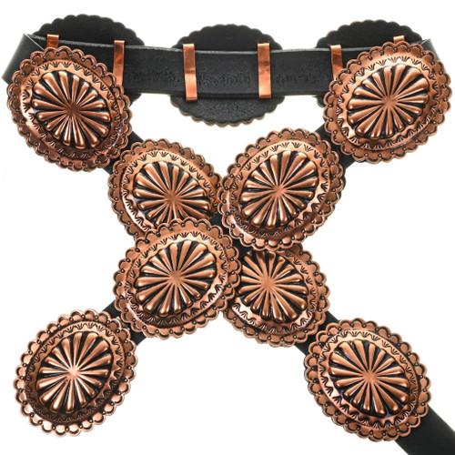 Navajo Copper Concho Belt 32606