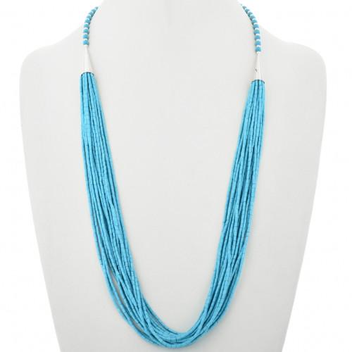 Twenty Strand Turquoise Heishi Necklace 32629