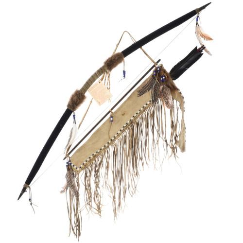 Vintage Handmade Indian Bow Arrows 32654