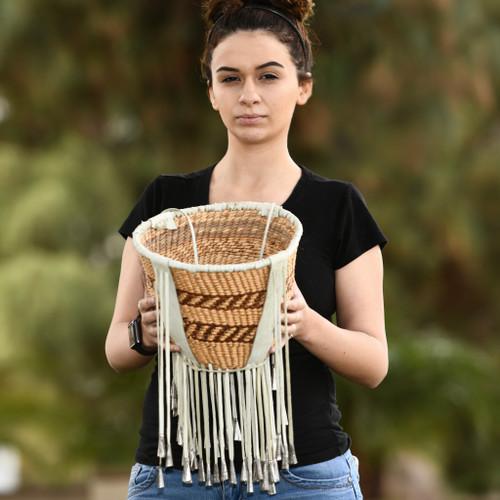 Hand Made Apache Burden Basket 32699