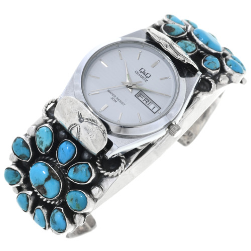 Old Pawn Navajo Turquoise Watch 32809
