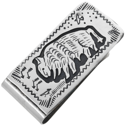 Navajo Buffalo Money Clip 32817