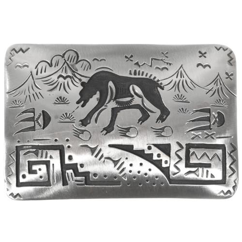Silver Walking Bear Belt Buckle 32822