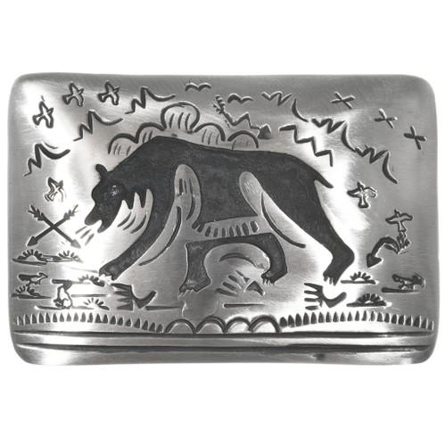 Silver Bear Belt Buckle 32836
