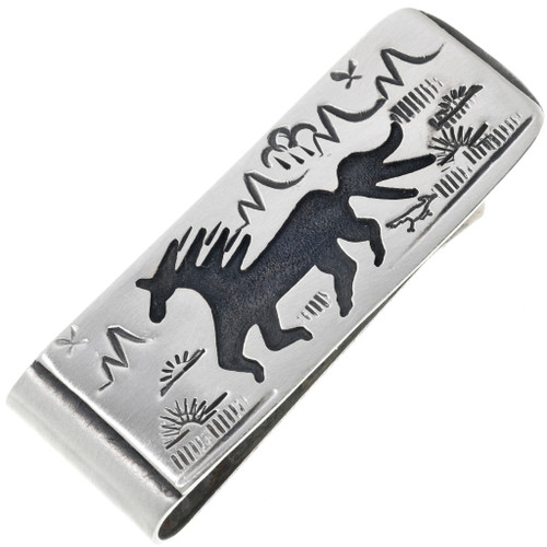 Navajo Wild Horse Money Clip 32860