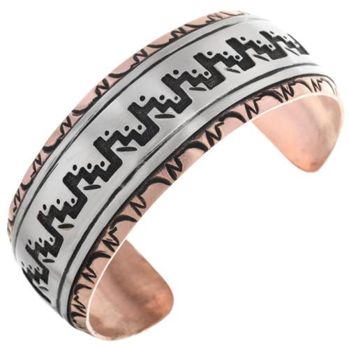 Navajo Overlay Pattern Bracelet 32872