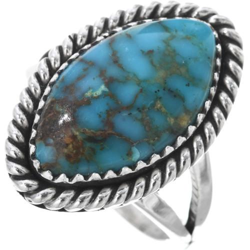 Kingman Turquoise Silver Ladies Ring 32909
