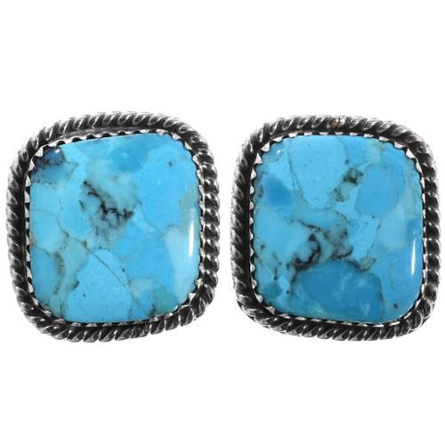 Blue Turquoise Navajo Post Earrings 32911