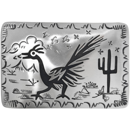 Silver Roadrunner Belt Buckle 32943