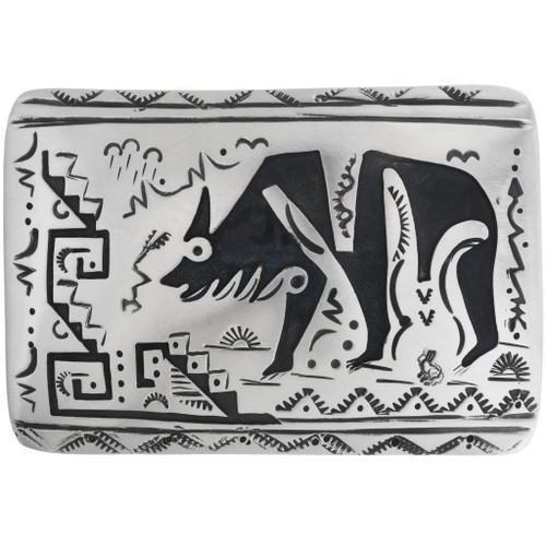 Navajo Pattern Silver Bear Buckle 32944