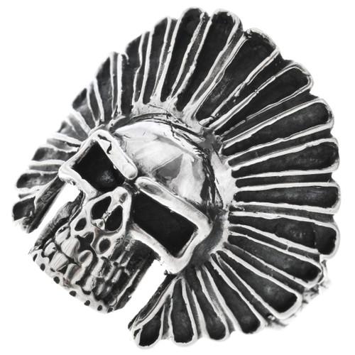 Sterling Silver Skull Ring 32967