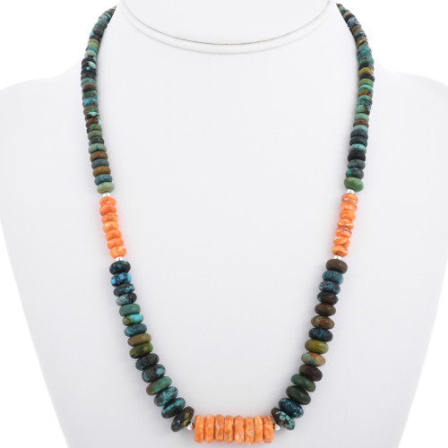 Turquoise Spiny Oyster Bead Necklace 32970