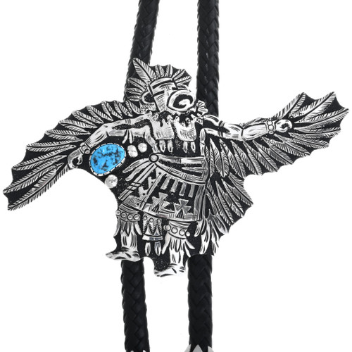 Sterling Silver Eagle Kachina Bolo Tie 32985