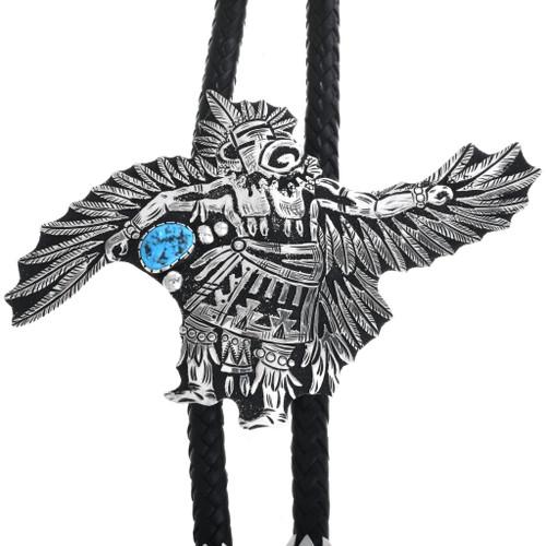 Sterling Silver Eagle Kachina Bolo Tie 32985