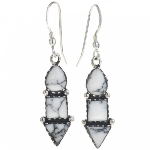 Crazy Horse Howlite Dangle Earrings 33005