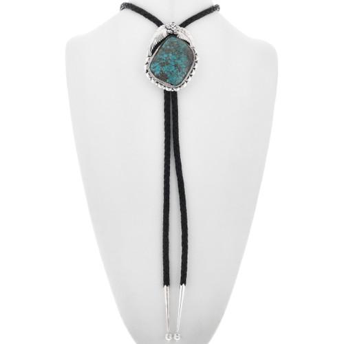 Turquoise Silver Navajo Bolo Tie 33015