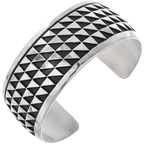 Navajo Overlaid Silver Cuff Bracelet 33023