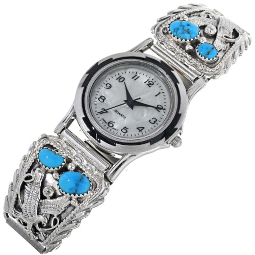 Turquoise Eagle Mens Watch Tips 33030