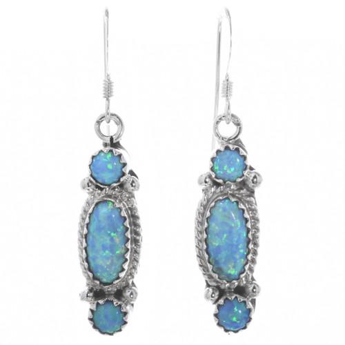 Sterling Silver Opal Earrings 33038