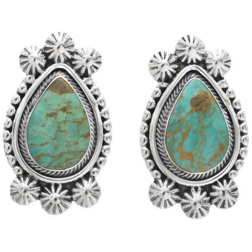 Green Turquoise Earrings 33040