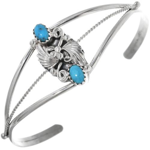 Turquoise Ladies Silver Bracelet 33052