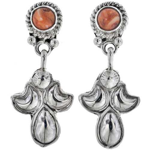 Spiny Oyster Silver Earrings 33061