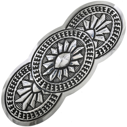 Traditional Pattern Sterling Hair Barrette 33065