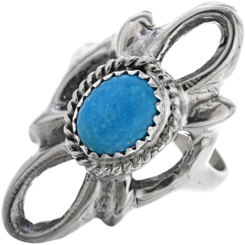 Navajo Turquoise Silver Ladies Ring 33080