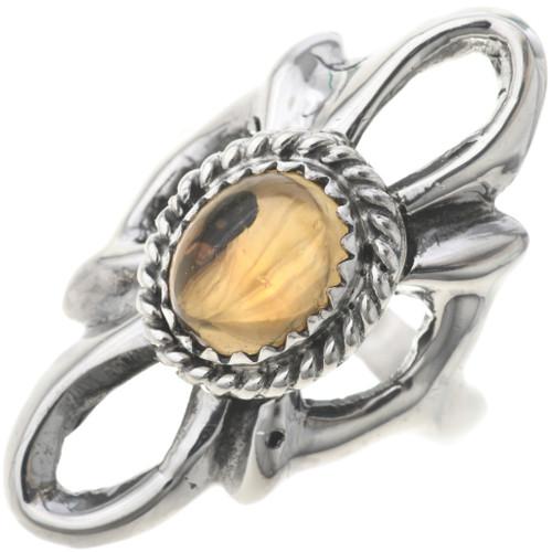Ladies Citrine Silver Navajo Ring 33083