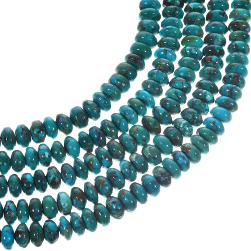 Green Turquoise Rondelle Beads 31955