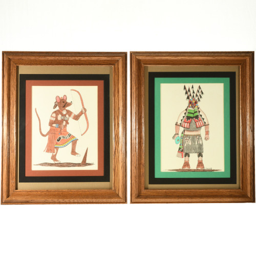 Vintage Hopi Kachina Drawings 33094