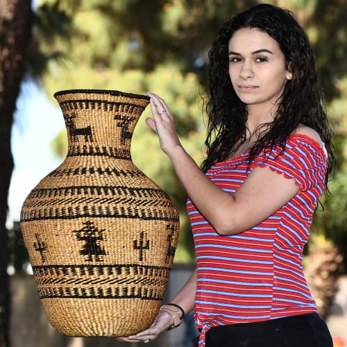Vintage Apache Indian Basket 33108
