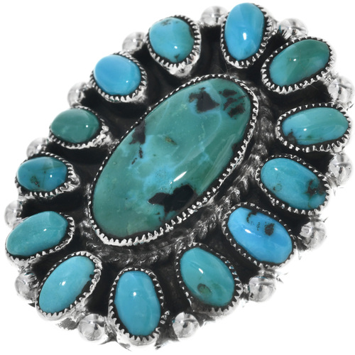 Vintage Sleeping Beauty Turquoise Ring 33118