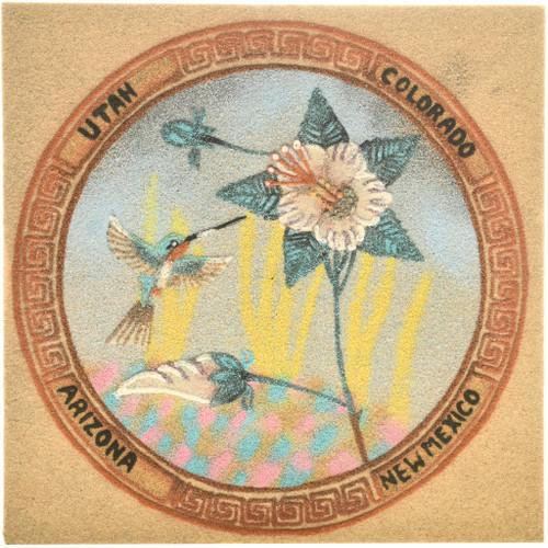 Four Corners Hummingbird Sand Painting 33133