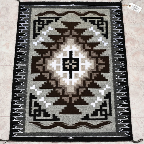 Very Fine Navajo Two Grey Hills Wool Rug 33135