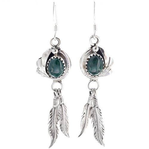 Navajo Made Malachite Earrings 33146