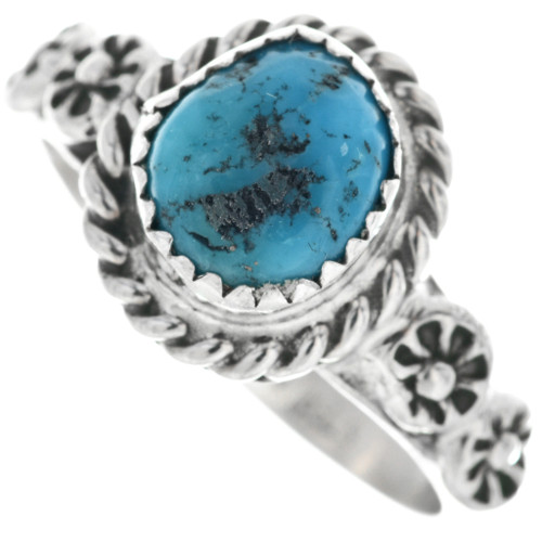 Navajo Turquoise Silver Ladies Ring 33155
