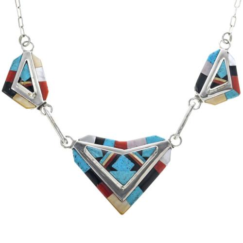 Zuni Inlay Turquoise Necklace Set 33179