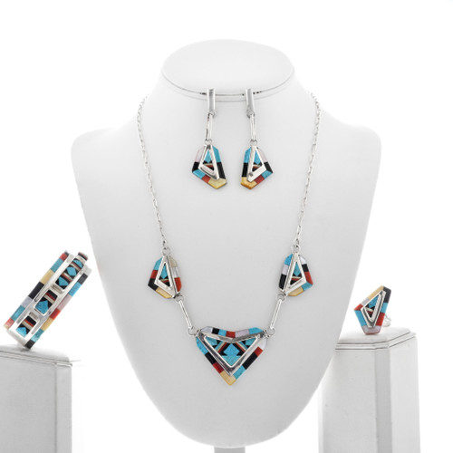 Zuni Necklace Set With Ring Bracelet Earrings 33179