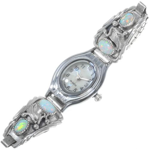 Navajo Sterling Silver Opal Watch 33183