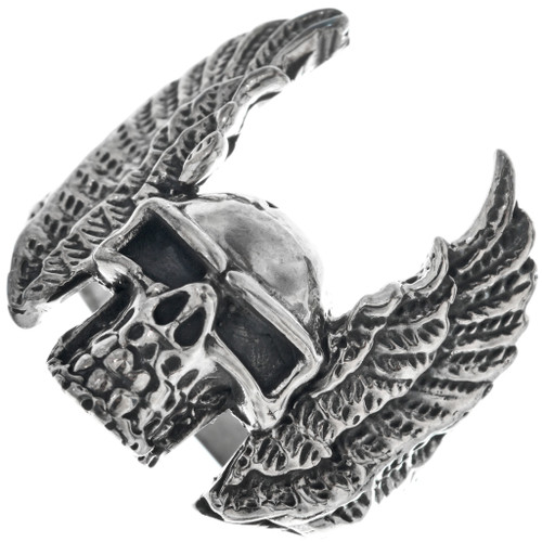 Navajo Winged Skull Ring 33187