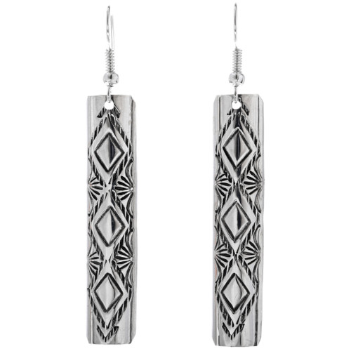 Navajo Sterling Silver Earrings 33196