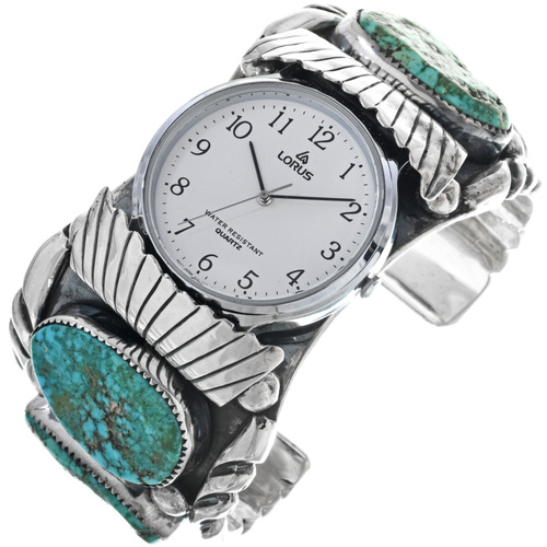 Arizona Turquoise Navajo Watch Cuff 33203