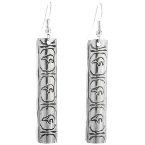 Native American Western Silver Earrings 33204