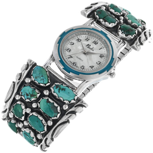 Old Pawn Natural Turquoise Watch 33209